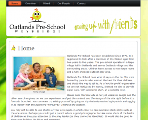 Oatlands Pre-school website
