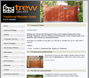 Trewgates e-commerce website